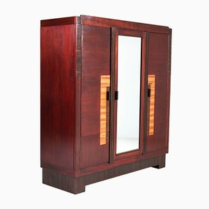 Art Deco Mahogany Wardrobe from t Woonhuys, 1920s