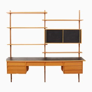 Mid-Century Wooden Wall Unit