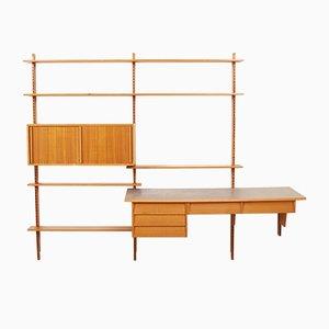 Mueble de pared suizo de madera blanda, años 50