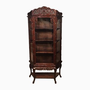 Antique Chinese Hardwood Display Cabinet