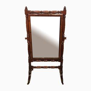 Antique Regency Mahogany Dressing Mirror