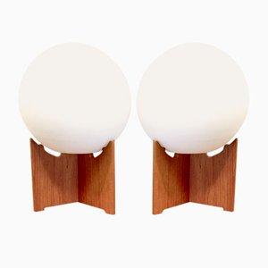 Lámparas de mesa vintage de teca de Hans-Agne Jakobsson para Hans-Agne Jakobsson AB Markaryd. Juego de 2