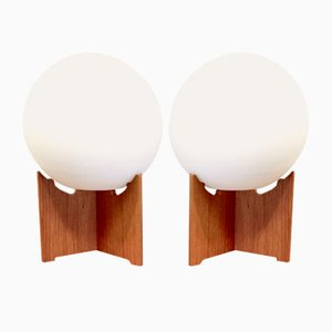 Vintage Teak Table Lamps by Hans-Agne Jakobsson for Hans-Agne Jakobsson AB Markaryd, Set of 2