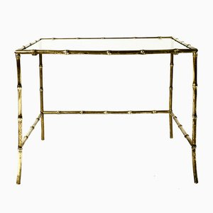 French Gilded Bronze Side Table from Maison Baguès, 1950s