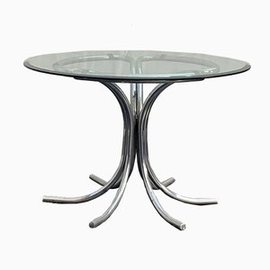 Steel & Glass Dining Table, 1960s