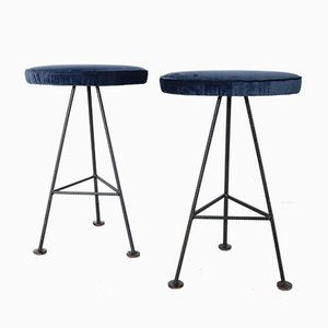 Iron Barstools, 1960s, Set of 2