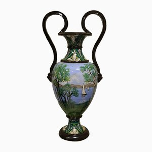 Jarrón Amphora antiguo pintado