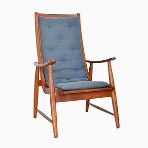 Mid-Century Ronco Stuhl aus Kirschholz von Jacob Müller für Wohnhilfe, 1950er