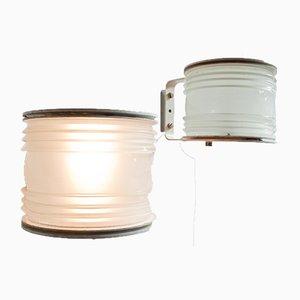 Lampade da parete Mid-Century di Joe Colombo, set di 2
