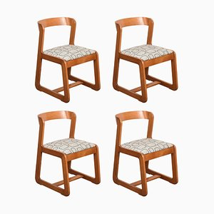 Italian Wooden Dining Chairs by Willy Rizzo for Mario Sabot, 1970s, Set of 4