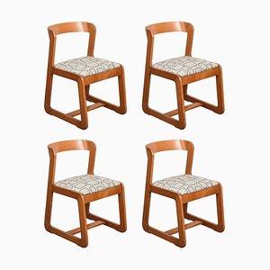 Italienische Holz Esszimmerstühle von Willy Rizzo für Mario Sabot, 1970er, 4er Set