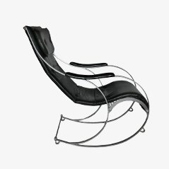 Wrought Iron Rocking Chair By Peter Cooper For R.W. Winfield U0026 Co, ...