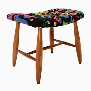 Art Deco Cherry Stool by Josef Frank for Haus & Garten Vienna, 1920s