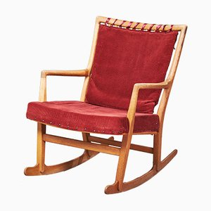 Mid-Century Danish Oak Model ML-33 Rocking Chair by Hans J. Wegner