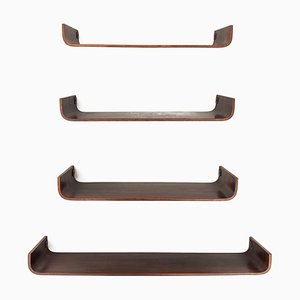 Italian Rosewood Shelves from Creazioni Stilcasa, 1960s, Set of 4