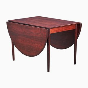 Mid-Century Rosewood Extendable Dining Table by Arne Vodder for Sibast, 1950s
