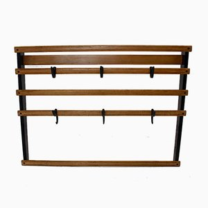 Beech & Brass Rack by Carl Auböck, 1950s