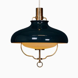 Mid-Century Danish Green Pendant Lamp from Lyfa, 1960s