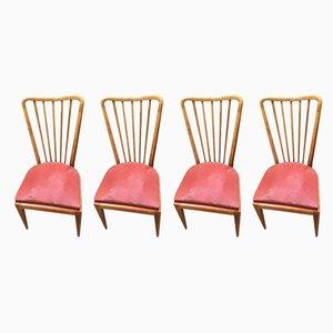 Esszimmerstühle von Paolo Buffa, 1959, 4er Set