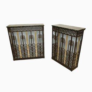 Art Deco Kühlerhalterungen, 1920er, 2er Set