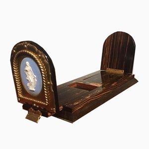 Antikes viktorianisches Bücherregal aus Messing & Coromandel von Martin & Co