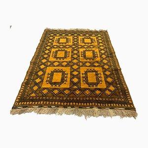 Mid-Century Golden Afghan Rug