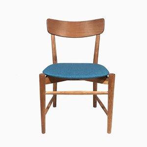 Beistellstuhl aus Eiche von Børge Mogensen, 1950er