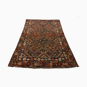 Orientalischer Mid-Century Teppich in Schwarz, Navy und Rot