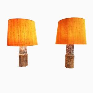 Lámparas de mesa de cerámica de Gunnar Nylund, años 50. Juego de 2