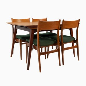 Teak Dining Chairs & Table by Louis van Teeffelen, 1964
