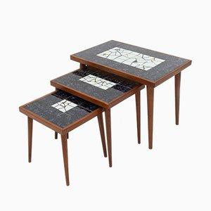 Dutch Mosaic Nesting Tables, 1968