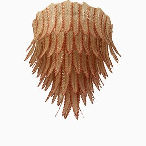 Lámpara de araña de cristal de Murano, años 70