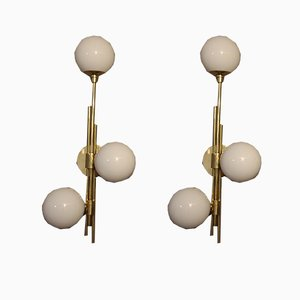 Mid-Century Italian Modern Murano Glass Sconces, Set of 2