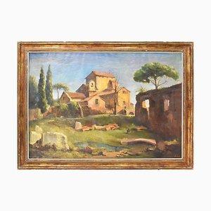 Pintura de paisaje de Tilleux Joseph Martin, 1949