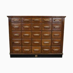 Vintage German Oak Apothecary Cabinet