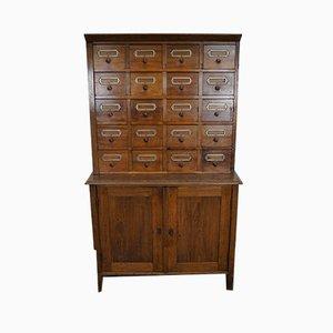 Mueble de farmacia alemán vintage de haya
