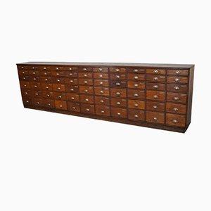 Mueble de farmacia holandés vintage grande de roble