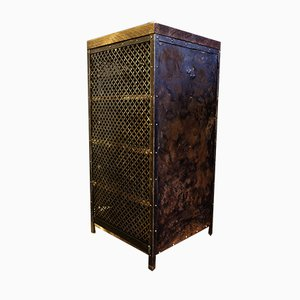 Perforated Metal Cabinet, 1920s