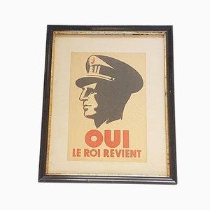 Oui le roi Revient Plakat von P. de Meeus, 1950er