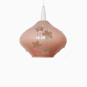 Glass Pendant Lamp, 1950s