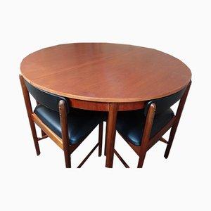 Sillas de comedor y mesa de teca de Tom Robertson para McIntosh, 1967. Juego de 5