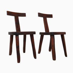 Sculptural Side Chairs by Olavi Hänninen for Mikko Nupponen, 1950s, Set of 2