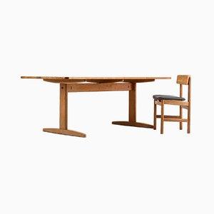 Mesa de comedor danesa de roble de Børge Mogensen para CM Madsen, años 60