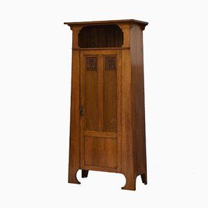 Arts & Crafts Solid Oak Wardrobe