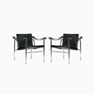 LC1 Sessel von Le Corbusier für Cassina, 1960er, 2er Set