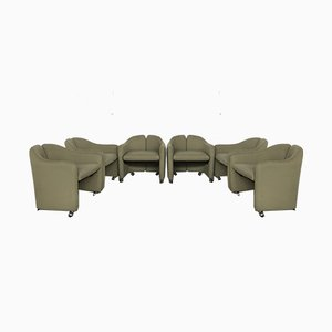 PS 142 Club Chairs by Eugenio Gerli for Tecno, 1960s, Set of 6