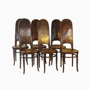 Antike 86 Esszimmerstühle von Fischel, 6er Set