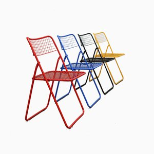 Folding Chairs by Niels Gammelgaard for Ikea, 1980s, Set of 4