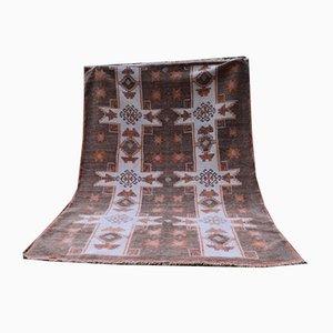 Alfombra turca geométrica de lana, años 70