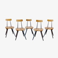 Pirkka Chairs by Ilmari Tapiovaara for Laukaan Puu, Set of 5